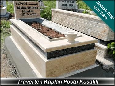 Kaplan Postu Kuşaklı Mermer Mezar